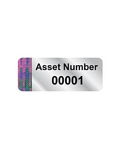 Silver Void Asset Labels 38x15mm