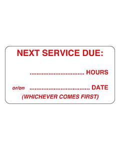 Service Due Labels 63x33mm