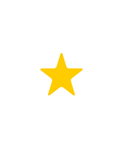 Yellow Star Shaped Stickers 10mm