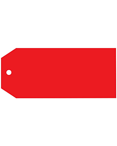 Blank Red Tags 110x55mm