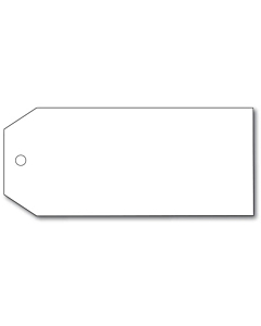 Blank White Tags 110x55mm