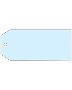 Blank Blue Tags 110x55mm