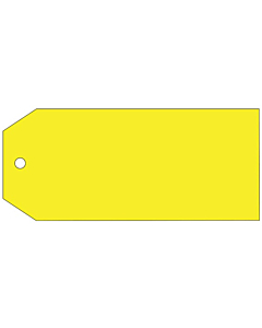 Blank Yellow Tags 110x55mm