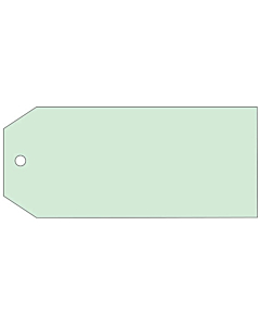 Blank Green Tags 110x55mm