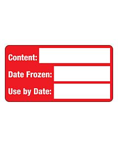 Frozen Food Content Labels 63x33mm