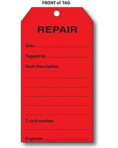 2 Sided Repair Tag (134x67mm)