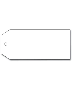 Blank White Perma Tags 110x55mm