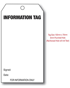 Information Tag (134x67mm)