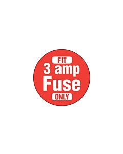 3 Amp Fuse Labels 20mm