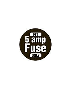 5 Amp Fuse Labels 20mm