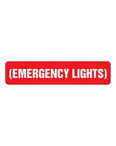 Emergency Lights Labels 80x18mm