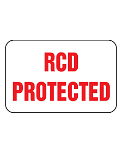 RCD Protected Labels 20x13mm