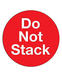Do Not Stack Labels 50mm