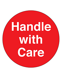 Handle With Care Stickers 50mm