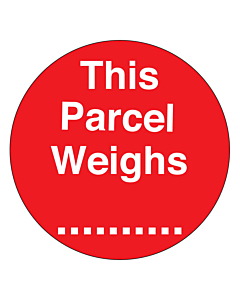 This Parcel Weighs ......... Labels 50mm