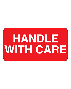 Handle With Care Labels 50x25mm