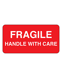 Fragile Handle With Care Labels 50x25mm