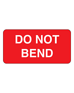 Do Not Bend Labels 50x25mm