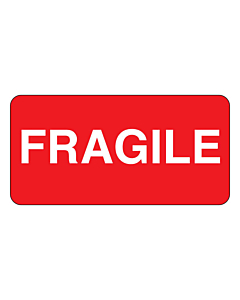 Fragile Stickers 50x25mm
