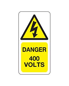 400 Volts Labels 25x50mm