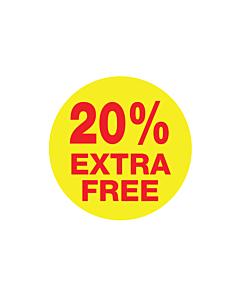 20% Extra Free Stickers