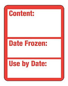 Frozen Food Content Labels 40x50mm