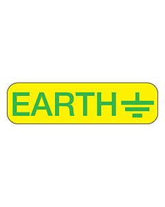 Electrical Earth Symbol Label 35x10mm