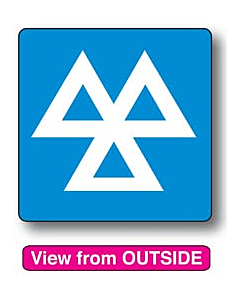 MOT Reminder Window Stickers 60x60mm