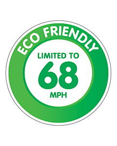 Limited to 68 MPH Sticker - 142x142mm Permanent