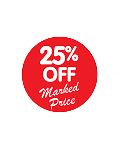 25% Off Marked Price Stickers