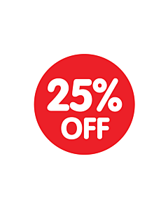 Red 25% Off Stickers