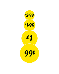 Yellow 25mm Price Labels