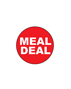 Meal Deal Stickers 25mm