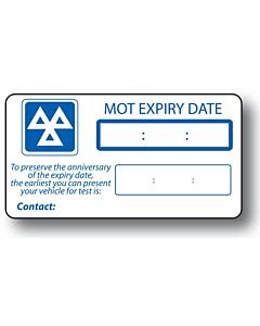 MOT Reminder Labels 63x33mm