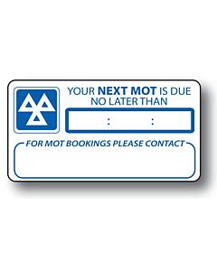 MOT Reminder Stickers 63x33mm