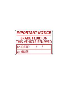 Brake Fluid Renewed Labels 38x25mm