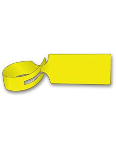 Yellow Loop Through Tags 245x39mm