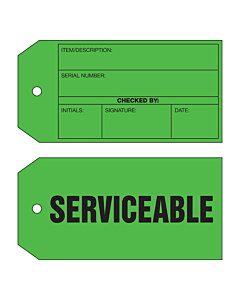 2 Sided Serviceable Tag (134x67mm)