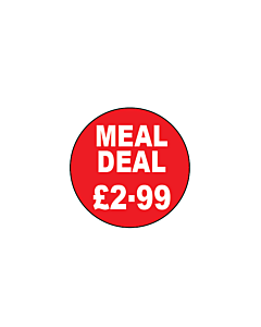 Meal Deal £2.99 Stickers 20mm