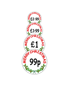 Christmas Price Labels 30mm