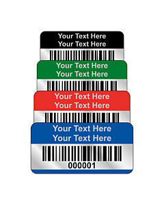 Budget Silver Polyester Asset Labels Barcode 30x15mm