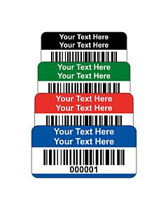 Budget Polyester Asset Labels Barcode 30x15mm