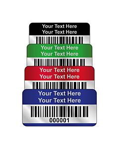 Silver Void Asset Labels Barcode 30x15mm