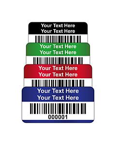 Destructible Vinyl Asset Labels Barcode 30x15mm
