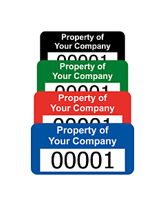 Premium Polyester Asset Labels Number 30x20mm