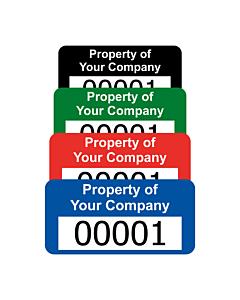 Budget Polyester Asset Labels Number 30x15mm