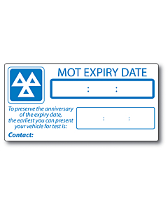 MOT Expiry Labels 149x75mm