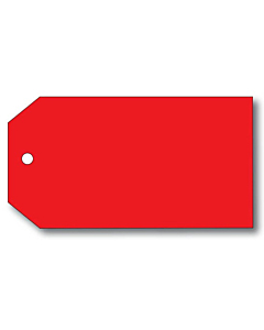 Blank Red Tags - 70 x 130mm