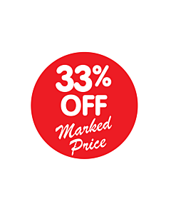 33% Off Marked Price Stickers