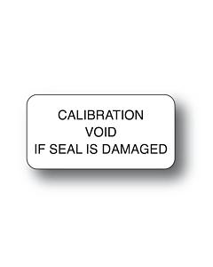 Tamper Evident Calibration Void Labels 40x20mm